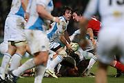 Glasgow scrum-half Colin Gregor attacks. Stade Toulousain v Glasgow Warriors, Heineken Cup, Stade Ernest Wallon, Toulouse, France, 21st December 2010.