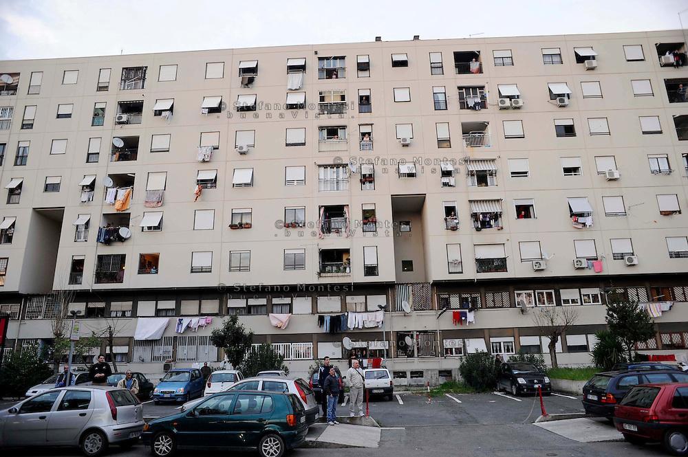 Roma 5 Aprile 2009.Il quartiere di Tor Bella Monaca.The district of Tor Bella Monaca