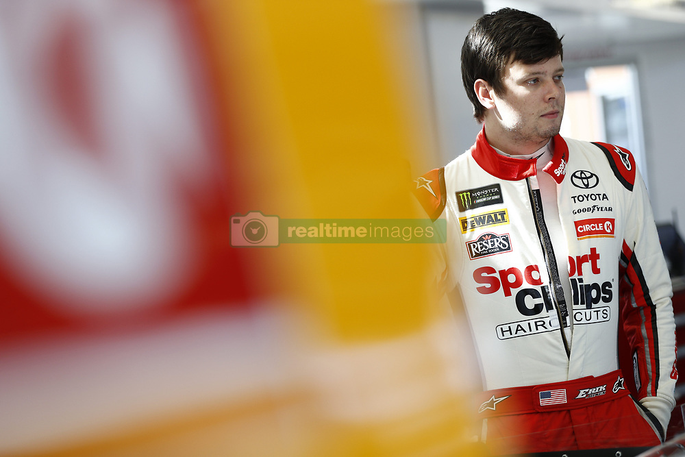 March 2, 2018 - Las Vegas, Nevada, United States of America - March 02, 2018 - Las Vegas, Nevada, USA: Erik Jones (20) hangs out in the garage during practice for the Pennzoil 400 at Las Vegas Motor Speedway in Las Vegas, Nevada. (Credit Image: © Justin R. Noe Asp Inc/ASP via ZUMA Wire)