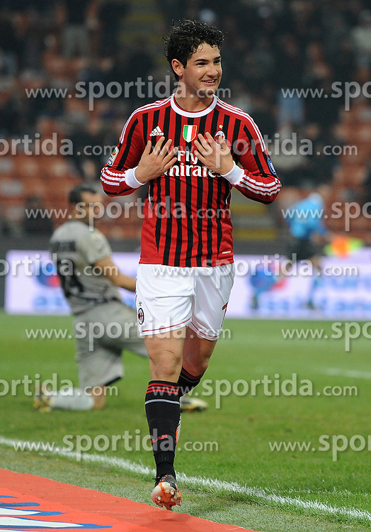 27.11.2011, Stadion Giuseppe Meazza, Mailand, ITA, Serie A, AC Mailand vs AC Chievo Verona, 13. Spieltag, im Bild esultanza dopo il gol di PATO (Milan) Goal celebration // during the football match of Italian 'Serie A' league, 13th round, between AC Mailand and AC Chievo Verona at Stadium Giuseppe Meazza, Milan, Italy on 2011/11/27. EXPA Pictures © 2011, PhotoCredit: EXPA/ Insidefoto/ Alessandro Sabattini..***** ATTENTION - for AUT, SLO, CRO, SRB, SUI and SWE only *****