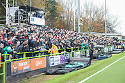 West stand during the EFL Sky Bet League 2 match between Forest Green Rovers and Plymouth Argyle at the New Lawn, Forest Green, United Kingdom on 16 November 2019.