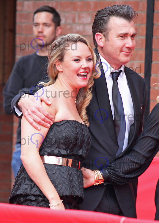 Charlie Brooks & Ian Kelsey, The British Soap Awards 2014, Hackney Empire, London UK,  24 May 2014, Photo by Brett D. Cove
