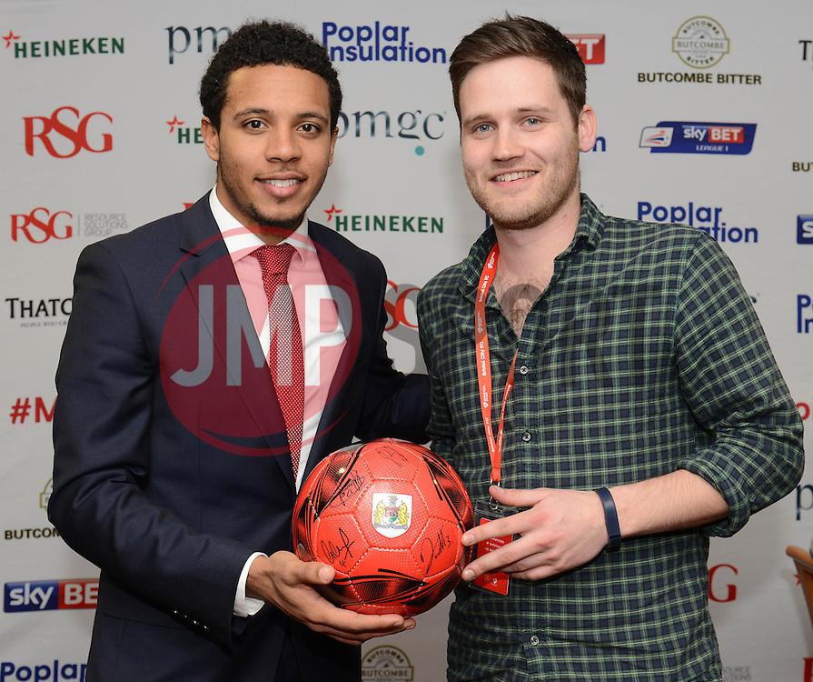 Man of the Match presentation - Photo mandatory by-line: Dougie Allward/JMP - Mobile: 07966 386802 - 14/02/2015 - SPORT - Football - Bristol - Ashton Gate - Bristol City v Sheffield United - Sky Bet League One