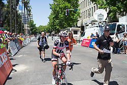 Liane Lippert (GER) of Team Sunweb rides back to the podium after Stage 3 of the Amgen Tour of California - a 70 km road race, starting and finishing in Sacramento on May 19, 2018, in California, United States. (Photo by Balint Hamvas/Velofocus.com)