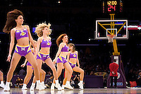 23 February 2007: The Laker Girls perform during a timeout during the Los Angeles Lakers and Boston Celtics game during the Lakers 122-96 victory over the Celtics at the STAPLES Center in Los Angeles, CA.