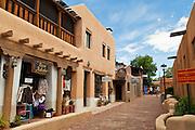 Teresina Lane, off the Taos Plaza. Taos, New Mexico.