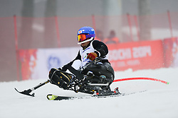 Akira KANO competing in the Alpine Skiing Super Combined Slalom at the 2014 Sochi Winter Paralympic Games, Russia
