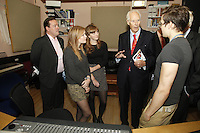 Sir George Martin CBE meets students, The BRIT School Industry Day, Croydon, London..Thursday, Sept.22, 2011 (John Marshall JME)