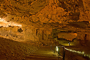 Israel, Jerusalem, Zedekiah's Cave - also known as Solomon's Quarries - is a 5-acre (20,000 m2) underground meleke limestone quarry that runs the length of five city blocks under the Muslim Quarter of the Old City
