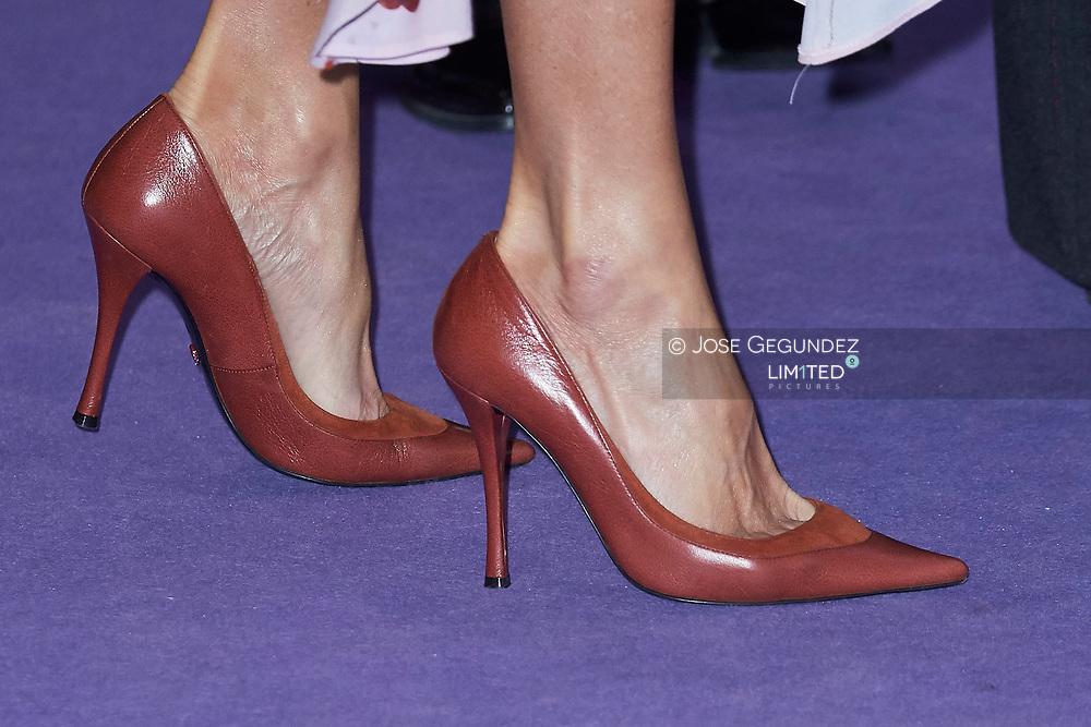 Queen Letizia of Spain attend 'Rastrillo Nuevo Futuro' on November 19, 2019 in Madrid, Spain