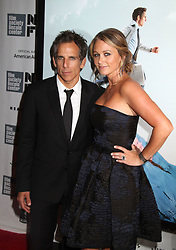 Oct. 5, 2013 - New York, New York, U.S. - Actor BEN STILLER and his wife/actress CHRISTINE TAYLOR attend the 51st annual New York Film Festival Centerpiece premiere of 'The Secret Life of Walter Mitty'  held at Alice Tully Hall at Lincoln Center. (Credit Image: © Nancy Kaszerman/ZUMAPRESS.com)