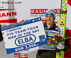 05.02.2011, Heini Klopfer Skiflugschanze, Oberstdorf, GER, FIS World Cup, Ski Jumping, Finale, im Bild Gregor Schlierenzauer (AUT) MAN OF THE DAY, during ski jump at the ski jumping world cup in Oberstdorf, Germany on 05/02/2011, EXPA Pictures © 2011, PhotoCredit: EXPA/ P. Rinderer