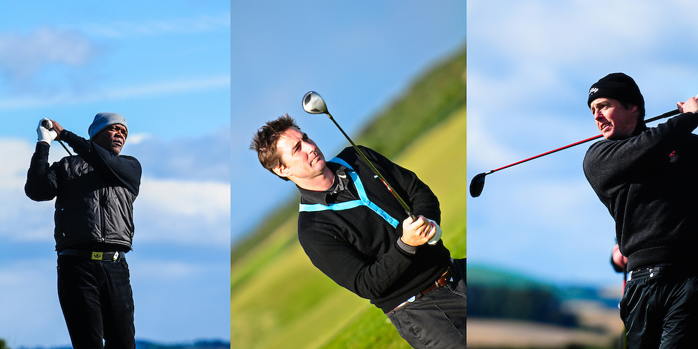 Alfred Dunhill Links Golf Tournament in St Andrews. Where the best professional and celebrity golf players pair-up to play on the world's oldest golf course on the edge of the North Sea.