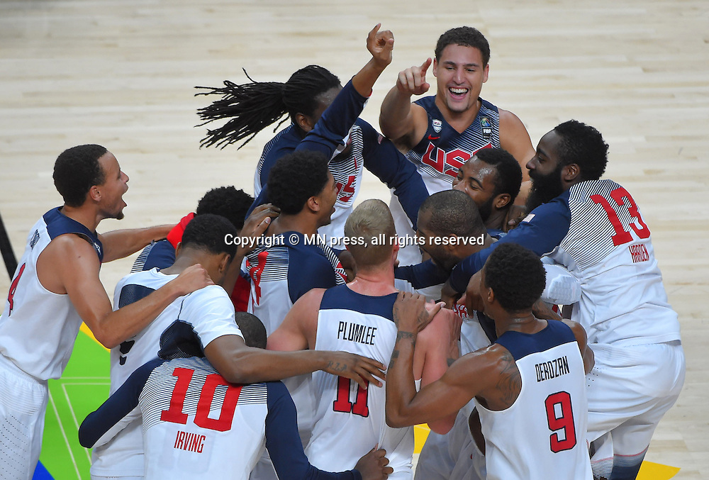 CELEBRSTION of United states of America basketball team in action during Final FIBA World cup match against Serbia, Madrid, Spain Photo: MN PRESS PHOTO<br /> Basketball, Serbia, United states of America, Final, FIBA World cup Spain 2014