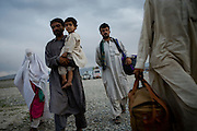 Afghan refugees returning from Pakistan arrive at a UNHCR transit camp in Kabul on Sunday, April 22, 2007. More than 400,000 Afghan refugees are expected to return home from Pakistan in 2007. Over 100,000 have returned since March 1, as Pakistan closes refugee camps and forcibly repatriates unregistered refugees.
