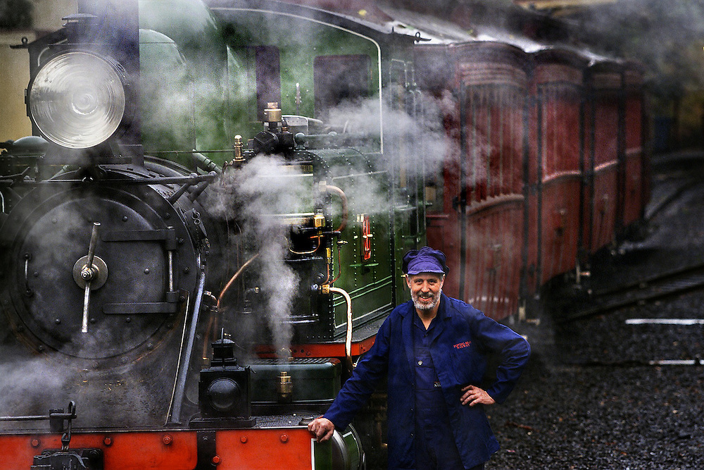 csz020122.001.001.jpg. Digicam000. Puffing Billy's Engine 6A returns to service after a $445,000 restoration.  Engine driver Ron Gunn who helped restore Engine 6A. Pic By Craig Sillitoe melbourne photographers, commercial photographers, industrial photographers, corporate photographer, architectural photographers, This photograph can be used for non commercial uses with attribution. Credit: Craig Sillitoe Photography / http://www.csillitoe.com<br /> <br /> It is protected under the Creative Commons Attribution-NonCommercial-ShareAlike 4.0 International License. To view a copy of this license, visit http://creativecommons.org/licenses/by-nc-sa/4.0/.