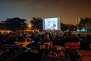 Empire Drive-In opening night in Queens, NY, on Friday, Oct. 4, 2013. <br /> <br /> Photograph by Andrew Hinderaker.