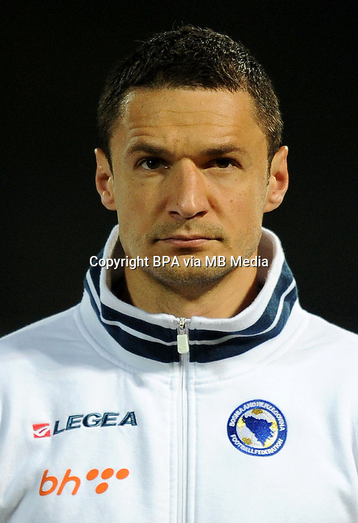 Football Fifa Brazil 2014 World Cup Matchs-Qualifier / Europe - Group G /<br /> Lithuania vs Bosnia-Herzegovina 0-1 ( S. Darius &amp; S. Girenas Stadium - Kaunas, Lithuania )<br /> Sejad SALIHOVIC of Bosnia-Herzegovina ,  during the match between Lithuania and Bosnia-Herzegovina