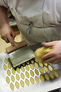 Making calisson cookies in Maison Béchard, famous pastry in Aix-en-Provence, France.