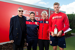 Terry Hamlin, Lee Johnson, Mike Adams and Adam Webster with the SC&T Player of the year award - Ryan Hiscott/JMP - 25/04/2019 - PR - Failand - Bristol, England - Bristol City End of Season Awards