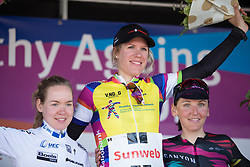 Ellen van Dijk (NED) of Team Sunweb won the overall classification of the race, while Anna van der Breggen (NED) of Boels-Dolmans Cycling Team finished in second place and Lisa Brennauer (GER) of CANYON//SRAM Racing finished third after Stage 5 of the Healthy Ageing Tour - a 117.9 km road race, starting and finishing in Borkum on April 9, 2017, in Groeningen, Netherlands.