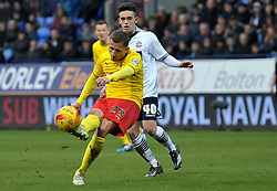 Watford's Almen Abdi scores his team's second goal - Photo mandatory by-line: Richard Martin-Roberts/JMP - Mobile: 07966 386802 - 14/02/2014 - SPORT - Football - Bolton - Macron Stadium - Bolton Wanderers v Watford - Sky Bet Championship