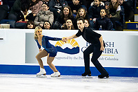 KELOWNA, BC - OCTOBER 25: Canadian figure skaters Kirsten Moore-Towers and Michael Marinaro compete in the pairs short program of Skate Canada International held at Prospera Place on October 25, 2019 in Kelowna, Canada. (Photo by Marissa Baecker/Shoot the Breeze)