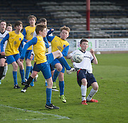Morgan Academy (yellow) v Grove Academy (white) - Under 14s Urquhart Trophy Cup Final at Dens Park<br /> <br /> <br />  - &copy; David Young - www.davidyoungphoto.co.uk - email: davidyoungphoto@gmail.com
