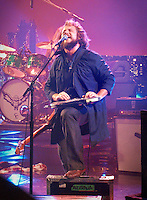 The rock band My Morning Jacket plays Live on Letterman at the Ed Sullivan Theatre in New York City on October 12, 2010. This image is Not available for download or distribution.