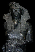 Schist Statue of Tutankhamen, usurped by Horemheb. 18th Dynasty (approx. 1330 BC) probably from Thebes.