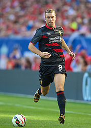 CHICAGO, USA - Sunday, July 27, 2014: Liverpool's Rickie Lambert in action against Olympiacos during the International Champions Cup Group B match at the Soldier Field Stadium on day seven of the club's USA Tour. (Pic by David Rawcliffe/Propaganda)