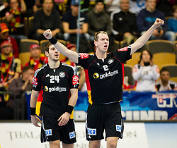 20.01.2011, Kristianstad Arena, SWE, IHF Handball Weltmeisterschaft 2011, Herren, Deutschland vs Tunesien, im Bild, // Tyskland Germany 2 Pascal Hens  celebrates // during the IHF 2011 World Men's Handball Championship match Germany vs Tunisia  at Kristianstad Arena, Sweden on 20/1/2011. EXPA Pictures © 2011, PhotoCredit: EXPA/ Skycam/ Henrik Johansson +++++ ATTENTION - OUT OF SWEDEN/SWE +++++