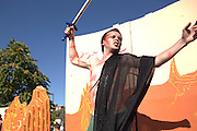 A member of the Baltimore Rock Opera Society performs at Artscape 2011 on Saturday, July 16, 2011.