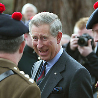 HRH Prince Charles visit to Balhousie Castle, Perth Regimental HQ of the Black Watch..<br />