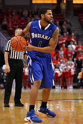 17 February 2016: Khristian Smith during the Illinois State Redbirds v Indiana State Sycamores at Redbird Arena in Normal Illinois (Photo by Alan Look)