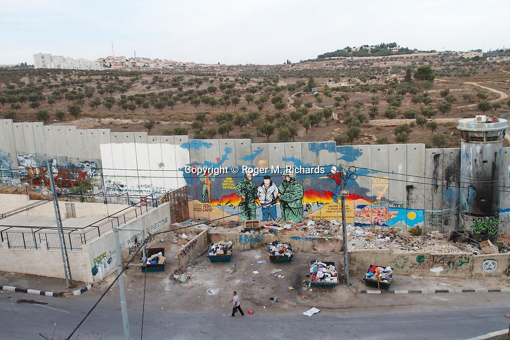 Views inside the Palestinian refugee camp of Beit Jalla on the outskirts of Jerusalem.