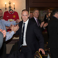 Steven Anderson Testimonial Dinner, Salutation Hotel, Perth...21.02.15<br /> Steven Anderson is welcomed into the room<br /> Picture by Graeme Hart.<br /> Copyright Perthshire Picture Agency<br /> Tel: 01738 623350  Mobile: 07990 594431