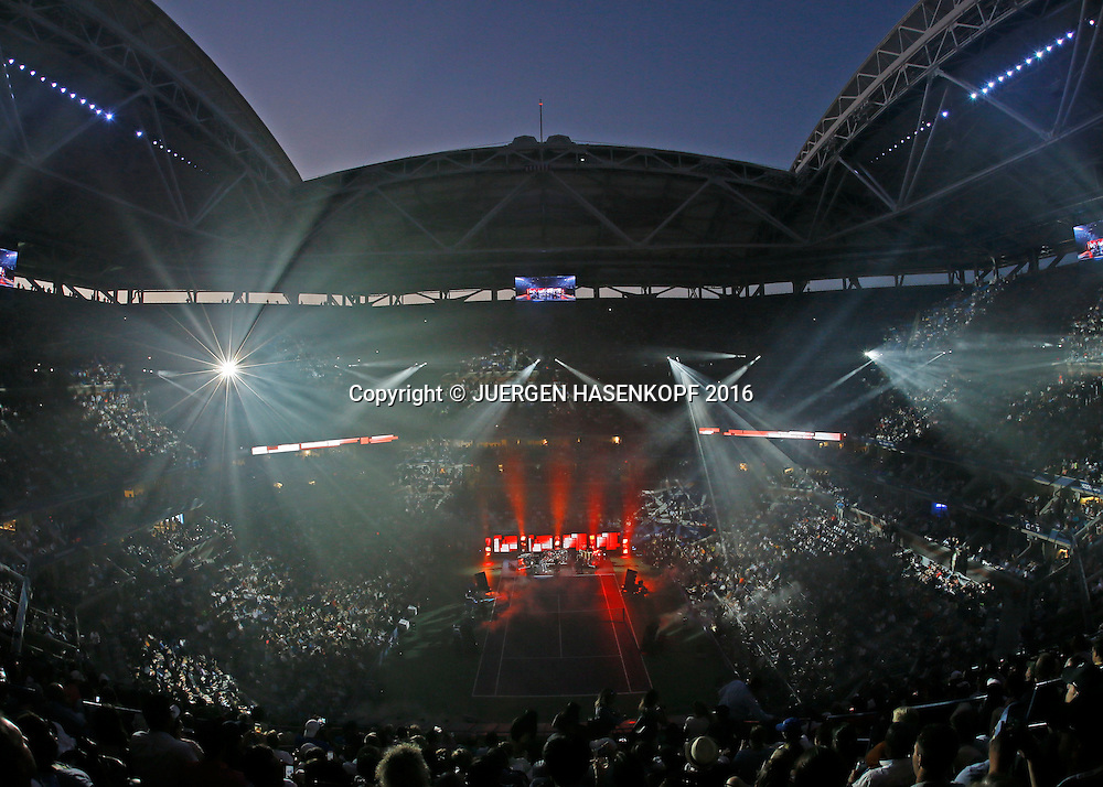 US Open 2016 Feature- Opening Ceremony mit Phil Collins,<br /> <br /> <br /> Tennis - US Open 2016 - Grand Slam ITF / ATP / WTA -  Flushing Meadows - New York - New York - USA  - 30 August 2016.