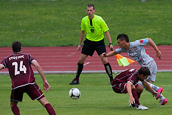 Football match between NK Triglav Kranj and Aluminij, 2nd Round of Prva Liga, on 22 July, 2012, in Sportni center, Kranj, Slovenia. (Photo by Grega Valancic / Sportida)