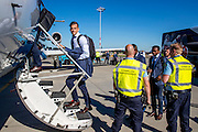 NOVI SAD - 17-08-2016, Vojvodina - AZ, Karadjordje Stadion, vertrek en aankomst, AZ speler Mats Seuntjens