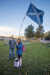 The Scottish Independence camp (Indy Camp) has been evicted from the grounds of the Scottish Parliament.<br /> <br /> <br /> Pictured: Protestors recording video to social media of eviction