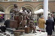 Frank Meisler bronze memorial sculpture Children of the Kindertransport, Hope Square, Liverpool Street station, London, England