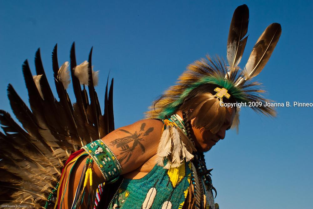 Kaw Native American Pow Wow participant, near Ponca City,  Oklahoma