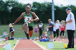 Ahtollah Rose of City of Manchester in the Triple Jump, UK Women's Athletics League - Premier Division Match 3, Norman Park Bromley, UK on 03 August 2013. Photo: Simon Parker