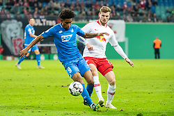 LEIPZIG, Nov. 1, 2018  Leipzig's Timo Werner (R) vies with Hoffenheim's Reiss Nelson during the 2nd round match of German Cup between RB Leipzig and TSG 1899 Hoffenheim, in Leipzig, Germany, on Oct. 31, 2018. Leipzig won 2-0. (Credit Image: © Kevin Voigt/Xinhua via ZUMA Wire)