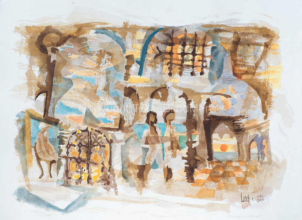 'Beach Boys' by Laki Senanayake<br /> 30&quot; x 22&quot;<br /> Water Colour on Paper.<br /> <br /> US$1600
