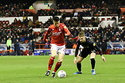 Nottingham Forest midfielder Joe Lolley on the ball during the EFL Sky Bet Championship match between Nottingham Forest and Charlton Athletic at the City Ground, Nottingham, England on 11 February 2020.