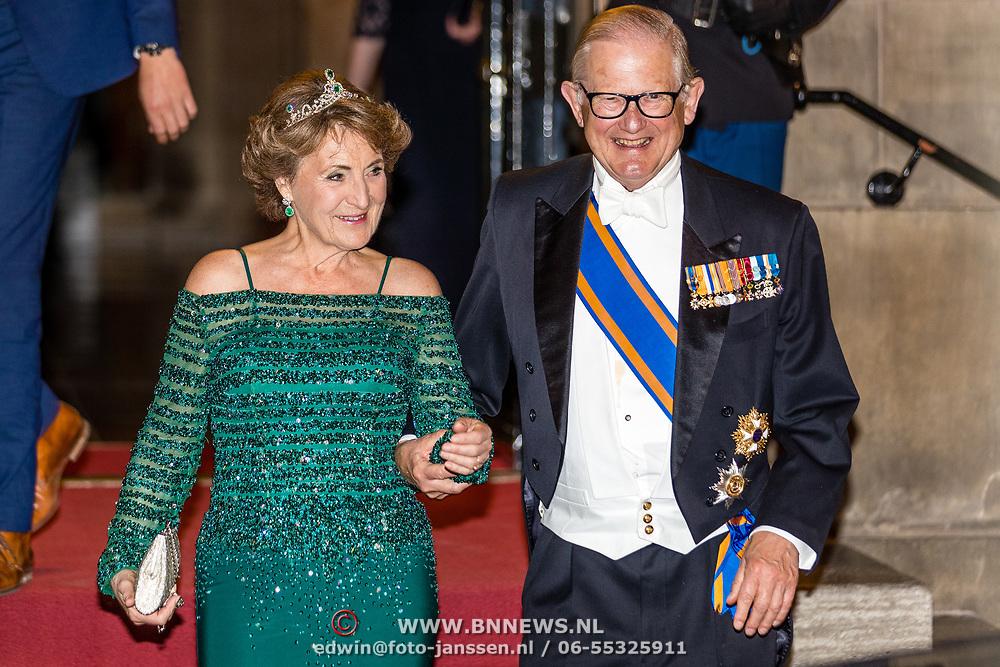 NLD/Amsterdam//20170523 - Koningspaar bij het diner Corps Diplomatique, Prinses Margriet en partner Pieter van Vollenhoven