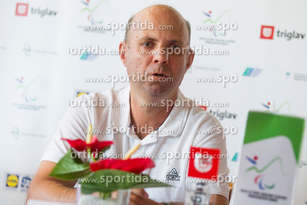 Robert Zlajpah at reception of Slovenia team arrived from 23rd Deaflympics Games Samsun 2017 on July 31, 2017 at Airport Joze Pucnik, Brnik, Slovenia. Photo by Urban Urbanc / Sportida