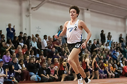 DMR R during Hoosier State Relays, on 03, 25, 2017 Gabe Fendel 1st place finish smile....